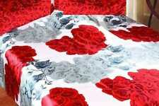 Queen/Full Size  Red Floral Comforter Bedding Set Duvet Cover