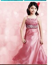 Kids Children Girls Princess Long Gown Wedding Birthday Party Wear Dress
