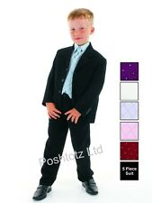 Boys Suits 5pc Blue Formal Suit Christening Wedding Pageboy (0-3mths-14yrs)