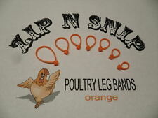 Orange LEG BANDS (ONE) size fits (ALL) POULTRY Chicken Duck Turkey Pheasant Gees