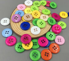 50/100 Pcs Mixed Resin buttons Sewing and Scrapbooking 4 holes 18mm