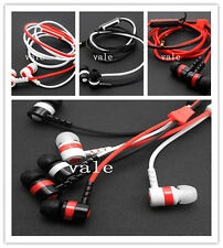 Zip Stylish Novelty Stereo 3.5mm Jack Earbuds Earphones With Mic Zipper Earphone
