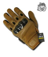 NEW RAPID DOMINANCE CARBON FIBER TACTICAL KNUCKLE TACTICAL GLOVES - T41 / COYOTE