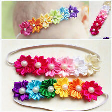 Newly Baby Girl Infant Toddler Colorful Headband Flower Bow Headwear Hair Band