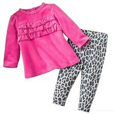 Carters 6 18 Months Velour Tunic & Animal Print Leggings Set Baby Girl Clothes