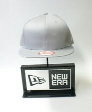 New Era 9FIFTY Plain Mouse Grey Colour NE Flag Logo Snapback Hat Baseball Cap