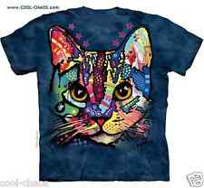 Calico Kitten Rainbow Kitty Cat T-Shirt / Tie Dye Cat Tee/Graffiti/Pop Art/Russo