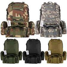 55L Outdoor Military Tactical Backpack Rucksack Camping hiking Climbing Daypack