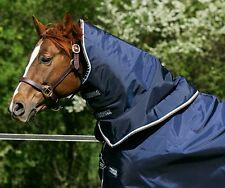 Horseware Rambo DUO Turnout HOOD Mediumweight 100g Navy/Choc/Brown S/M/L/XL