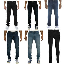 MENS JEANS SKINNY SLIM FIT STRETCH IN BLACK LIGHTWASH DARKWASH COLOURS 28 TO 42