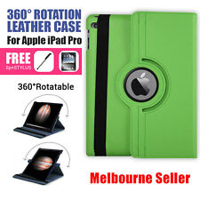 Green 360 Rotation Durable Stand Smart Leather Case for Apple iPad Pro