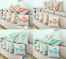 Euphoria Cushion Covers Pillows Shell Teal Sea Animals Life Home Sofa 45 X 45cm