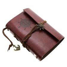 Classic Faux Leather Cover Nautical String Journal Diary Kids Personal Notebook