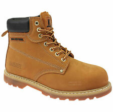 MENS WALKLANDER LEATHER SAFETY WORK BOOTS STEEL TOE CAP SHOES TRAINER UK SIZES