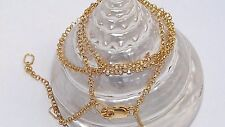 Handcrafted.925 Sterling Silver Round Rolo Chain 14k 1 micron Yellow Gold Plated