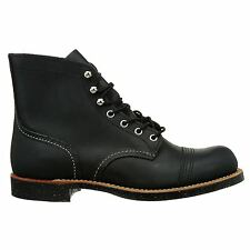 Red Wing Iron Ranger Black Leather Mens Boots - 08114D