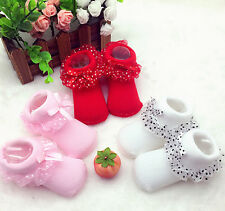 Cute Toddlers Infants Cotton Ankle Socks Baby Princess Bowknots Socks 0-6 Months