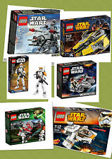 Star Wars Lego Playsets/Millennium Falcon/Jedi Interceptor/AT AT/Sith Troopers