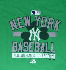 Green New York Yankees T-Shirt Genuine Major League Merchandise License Majestic