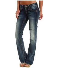 ROCK REVIVAL WOMENS ADELE B20 BOOTCUT DENIM JEANS VINTAGE BLUE SIZE 26 27 28 NEW