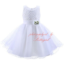 NEW Wedding Party Formal Flower Girls Dress Baby Tulle Birthday Pageant Dresses