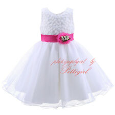 Baby Girl Birthday Wedding Party Formal Flower Girls Dress Kids Pageant Dresses