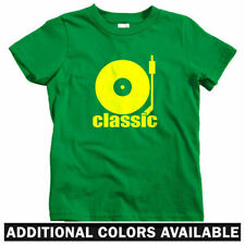 Classic Kids T-shirt - Baby Toddler Youth Tee - DJ Turntable Producer Beats Gift