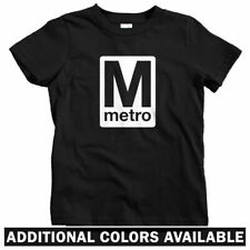 Washington DC Metro Kids T-shirt - Baby Toddler Youth Tee - RR Logo Subway Train