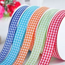Wholesale Polyester Gingham Ribbons ~ Many Colors 6mm 9mm 15mm 19 22mm 25mm 38mm