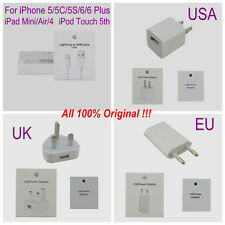Genuine USB 5W Power Adapter+Lightning Cable For Apple iPhone 4 5 5S 6 6S Plus