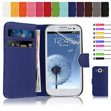 Flip Wallet Leather Case Cover For Samsung Galaxy S3 I9300 Free Screen Film