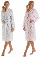 Ladies Floral Lightweight Kimono Robe Dressing Gown Summer White Blue Pink Wrap