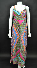 NEW LADIES NEW YORK LAUNDRY MULTI COLOUR LINED SUMMER COTTON MAXI DRESS M/L