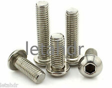 50/100pcs M3 304 Stainless Steel Allen Button Dome Head Hex Socket Cap Screw Nut
