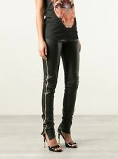 Woman 100% Lambskin Leather Pants Side Zipper Black Sexy Ladies Women Damen SK-5