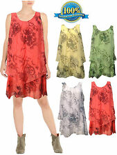 LADIES WOMANS SUMMER EVENING PARTY SILK SLEEVELESS TOP FLOWER PRINT PLUS SIZE