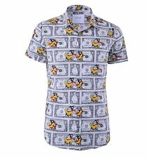 """MOSCHINO COUTURE Printed Short Sleeves Shirt """"Mighty Mouse"""" Dollar Bill 04384"""