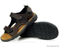Mens cow leather loafer fisherman sport sandal shoes plus size11 12 13