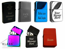 Personalised Windproof Lighter Free Laser Engraving Ideal Birthday Gift
