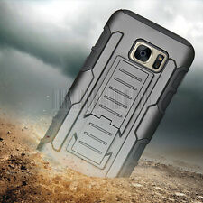 Hybrid Rugged Tough Armor Shockproof Stand Hard Case Cover For Samsung Galaxy S7