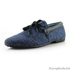 Fashion England style Mens lace up flax Breathable Recreational Casual shoes New