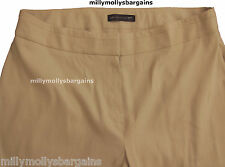 Womens Marks and Spencer Beige Straight Leg Linen Trousers Size 24 22 20 18 16