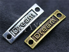 6/30/150pcs Antique Silver Beautiful Dream Jewelry Charms Connectors DIY 35x10mm