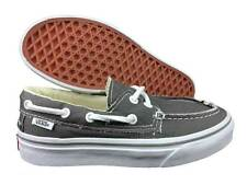 VANS. Zapato Del Barco. Grey / True White. Unisex Kids Shoe. Mens US Size 3.5