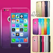 Ultra Thin 360° Full Body Protective Case For iPhone 6, 6S Plus, Tempered Glass