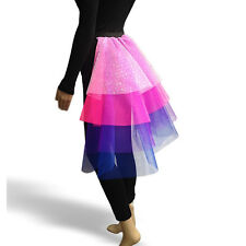 Childrens TWILIGHT SPARKLE layered TUTU MULTI COLOUR FANCY DRESS TAIL COSTUME