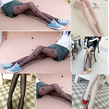 Black Pattern Fashion White Sexy Jacquard Fishnet Pantyhose Tights Stockings