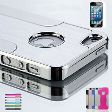 Luxury Aluminum Chrome Hard Protective Cover Case For iPhone 5 5S 5C 6 6 Plus CA