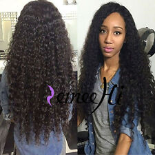 Deep Wave Curly 100% Indian Human Remy Hair Front Wigs Full Lace Wig Many Length