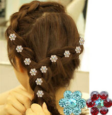20Pcs Wedding Bridal Crystal Flower Crystal Hair Pins Clips Bridesmaid
